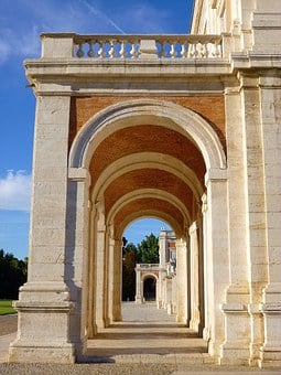Royal Palace, Aranjuez, Spain, Arcade, Arch, Castle