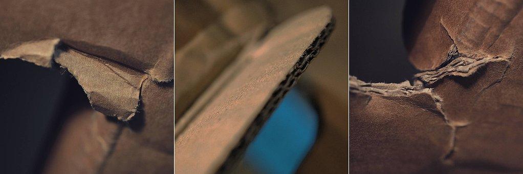 Cardboard, Dark, Macro, Detail, Texture, Collage