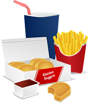 Chicken Nuggets, Cola, Drink, Food, Fries, Ketchup