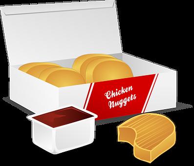Chicken Nuggets, Food, Fried, Fast Food, Junk Food