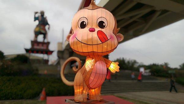 The Lantern Festival, Monkey, Flower 燈