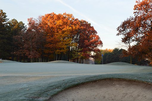 Golf Course, Autumn, Landscape, Scenery, Golf, Green