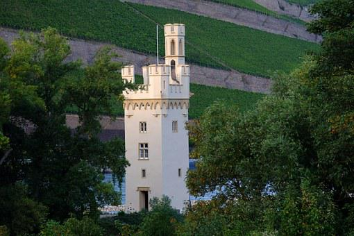 Mouse Tower, Bingen, Tower, Old, Historically, Imposing