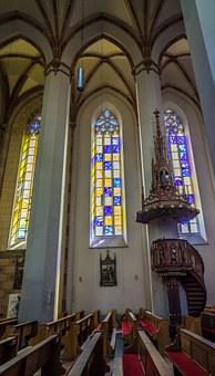 Church, Architecture, St Johann, Interior, Christianity