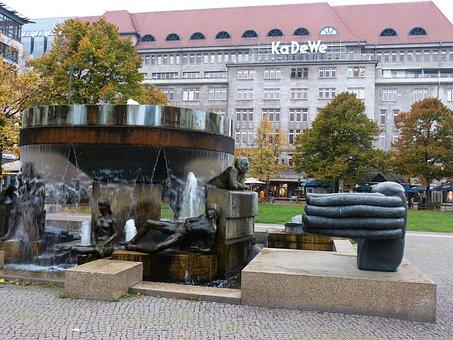 Berlin, Capital, Building, City, Monument, Art, Kadewe