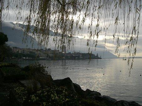 Montreaux, Lake Geneva, Lake Leman, Switzerland