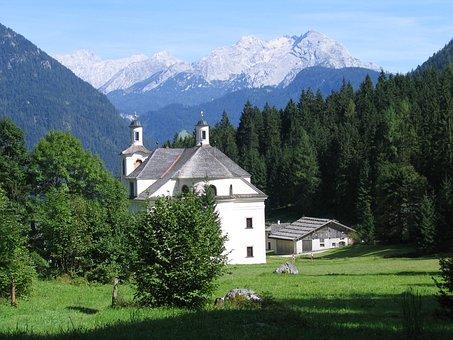 Church, Maria Kirchenthal, Landscape, Forest