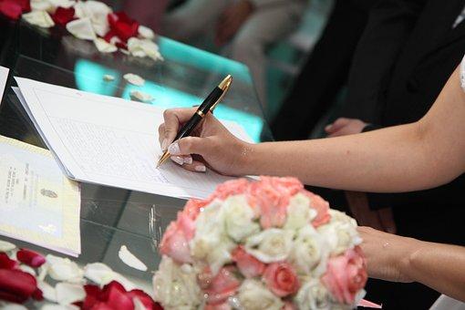 Bride Signing, Wedding Signature, Signature, Married