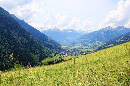 Gastein Valley, Mountains, Alm, Meadow, Valley, Gastein