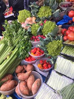 Vegetables, Produce, Sweet Potatoes, Ridley Road Market