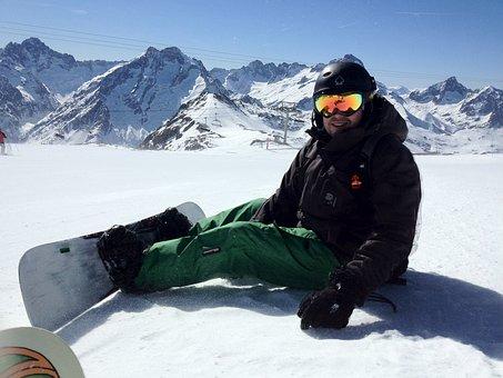 Ski, Snowboard, Snow, Mountain, Snowboarding, Sport