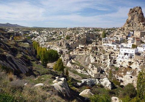 Göreme, Cappadocia, Turkey, Apartments, Volcanic Rocks