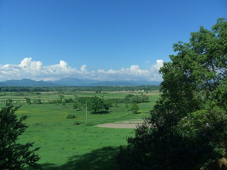 Landscape, Vista, Green, Mountains, Away From, Rumania