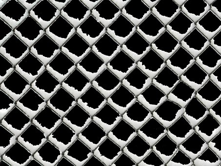 Wire Mesh Fence, Snow, Wire Mesh, Fence, Cold, Blocked