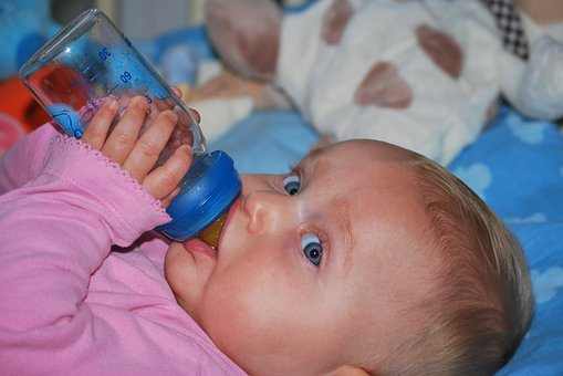 Child, Baby, People, Drinking, Girl, Drink Bottle