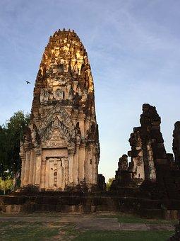 Ruins, Sukhothai, Historical, Culture, Temple, Buddhism