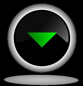 Down, Button, Icon, Back, Web, Internet, Control