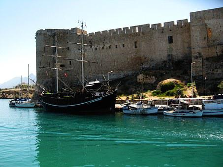 Kyrenia, Cyprus, Castle, Greek, Mediterranean, Turkish