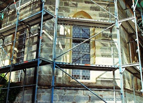 Construction, Working Scaffold, Scaffolding, Scaffold