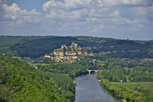 Beynac, Castle, Village, Dordogne, River, France, View