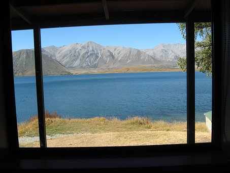 Picturesque, View, Window, Mountains, Lake, Scenic