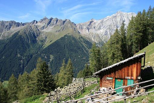Dolomites, South Tyrol, Alm, Mountain Hard-on