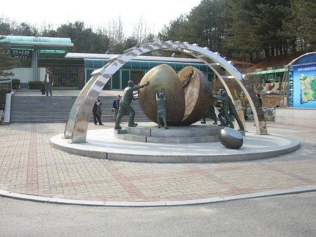 South Korea, North Korea, Dmz, Korea, Border, Monument