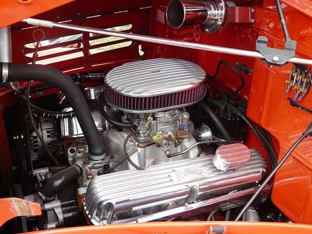 Engine Compartment, Automotive, American, Oldtimer