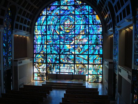 Stained, Glass, Stained Glass, Pepperdine University