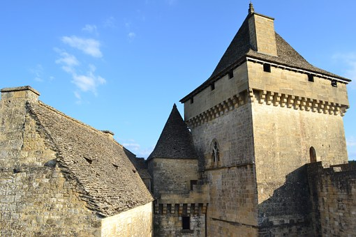 Medieval Castle, Stone Wall, Roof, Medieval Tower