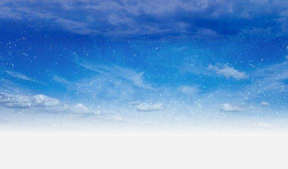 Snow, Flurries, Sky, Day, Blue, White, Cloud