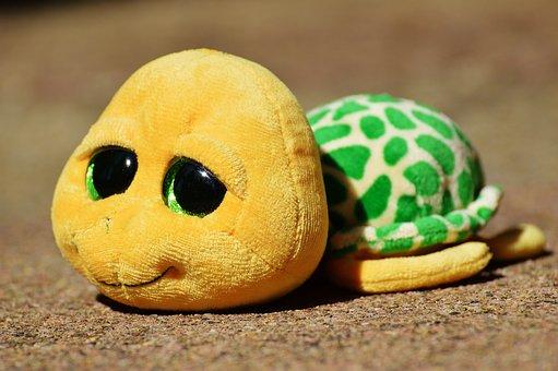 Turtle, Stuffed Animal, Soft Toy, Toys, Cute