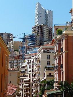 Monaco, Street Canyons, Skyscrapers, Building, Control