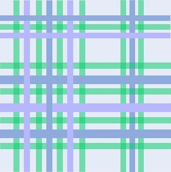 Gingham, Pastel, Blue, Shades, Shapes, Green, Stripes