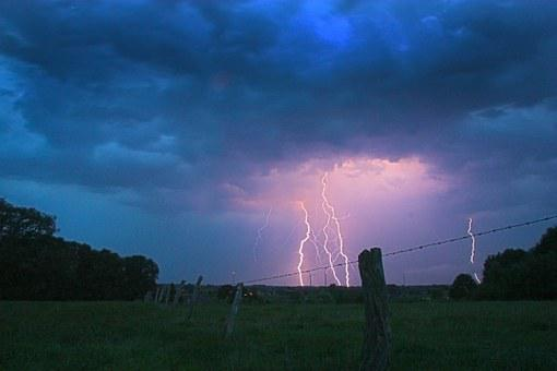 Flash, Thunderstorm, Storm, Thunder, Clouds, Twilight