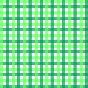 Gingham, Geometric, Two Tone, Green, White, Lime, Pine
