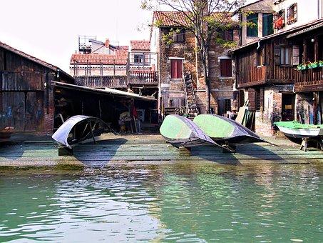 Gondola, Venice, Boat, Italy, Canal, Water, Venetian