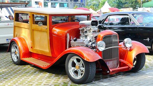 Automotive, Retro, Hot Rod, American, Oldtimer