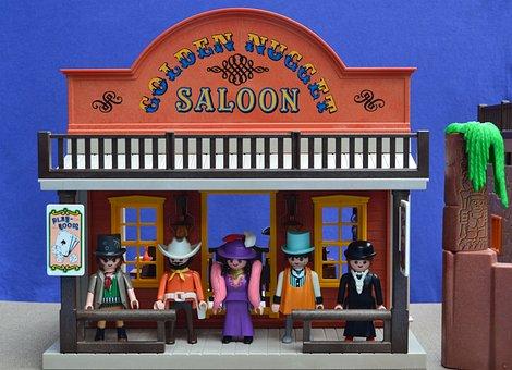 Playmobil, Western, Saloon, Usa, Molly, Bartender