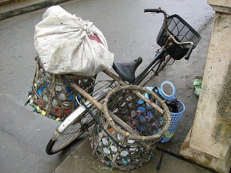 Bicycle, Basket, Bike Bag, Balance