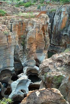 South Africa, Blyde River, Cascade, Erosion, Potholes