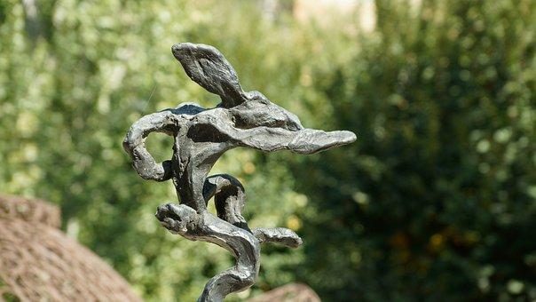 Art, Rabbit, Hare, Statue, Sculpture, Bronze