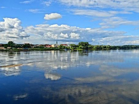 Bydgoszcz, Waterfront, View, Lake, Water, Glassy