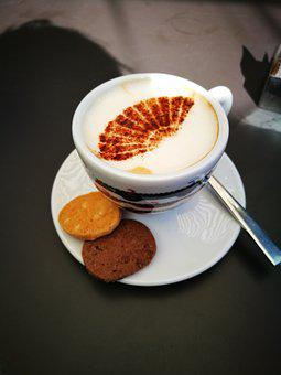 Coffee, Cookie, Biscuit, Hot, Beverage, Drink, Cafe