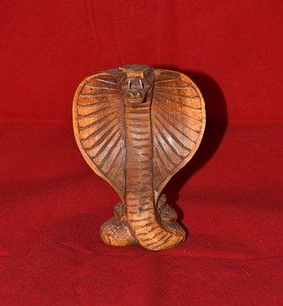 Cobra, Wood, Snake, Fig, Holzfigur, Carving, Carve
