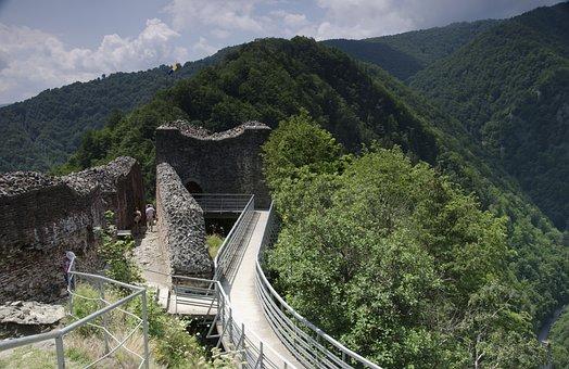 Castle, Dracula, Cetatea Poienari, Romania, Poienari