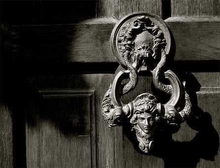 Door, Close-up, Entrance, Doorway, Outside, Decorative