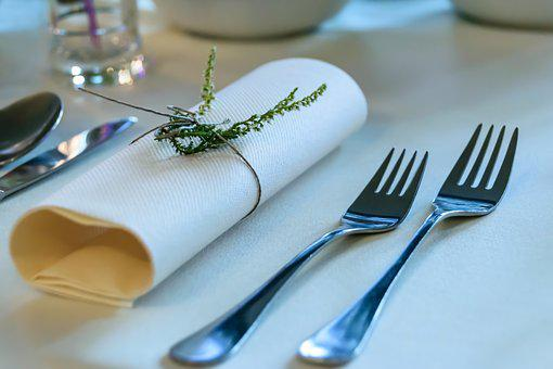Elegant Tableware, Forks, Dining Table, The Adoption Of