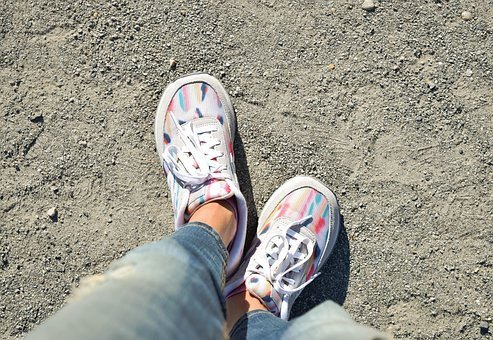 Shoes, New Balance, Feet, Legs, Sneakers, Nature