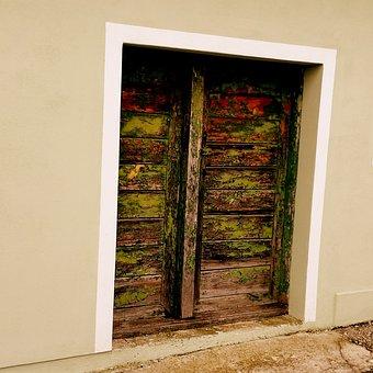 Goal, Door, House, Input, Wood, House Entrance, Old